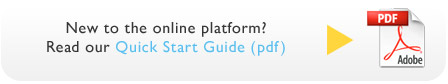 New to the platform? Read our quick start guide (pdf)