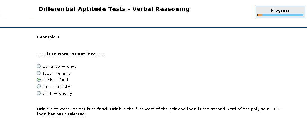 An example of the differential aptitude test (dat) | download.
